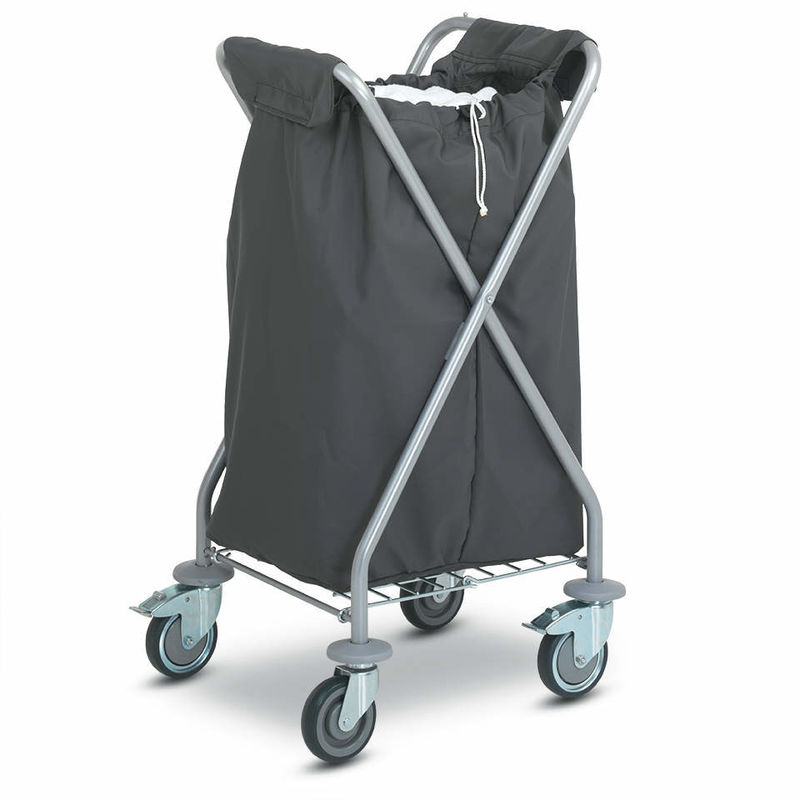 Folding Laundry Hotel Luggage Dolly / OEM Chrome Hotel Luggage Carrier