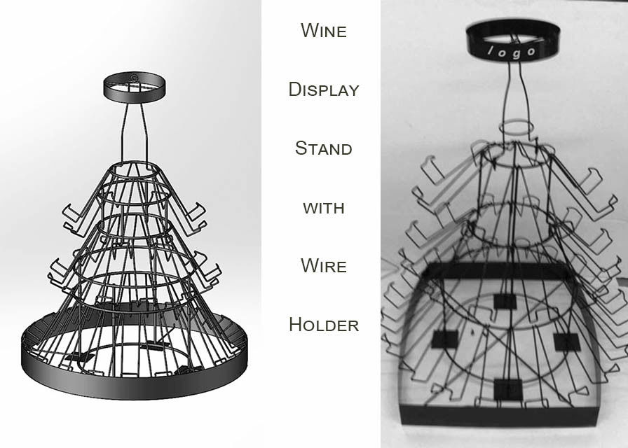 42 Bottles Christmas Tree Shaped Wine Rack , 3 Layers Wine Bottle Christmas Tree Stand
