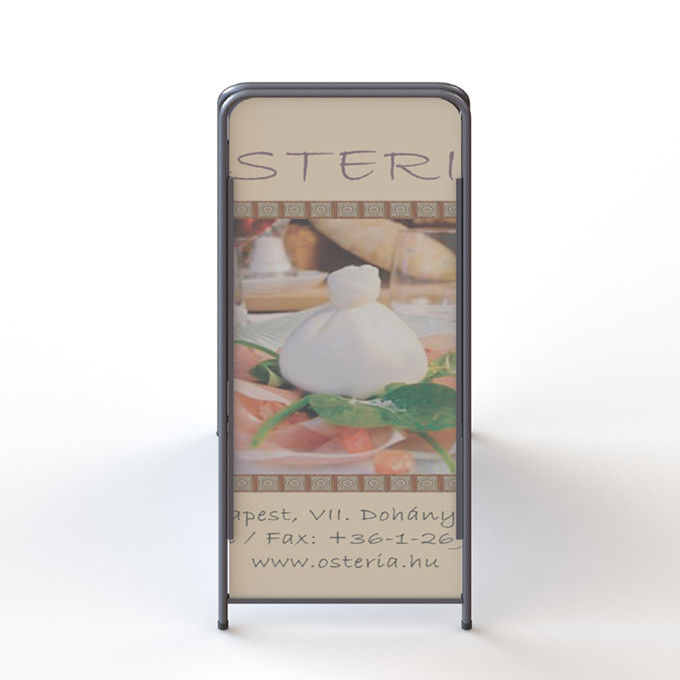 Metal A Frame Poster Display Stand With Double Sides Collapsible Constructure